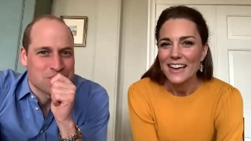 Кейт Миддлтон и принц Уильям удивили школьников видеозвонком. Фото скриншот: instagram.com/kensingtonroyal/