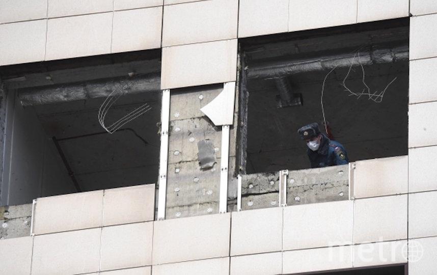 В результате разрыва газового баллона в бизнес-центре в центре Москвы пострадало два человека. Фото РИА Новости