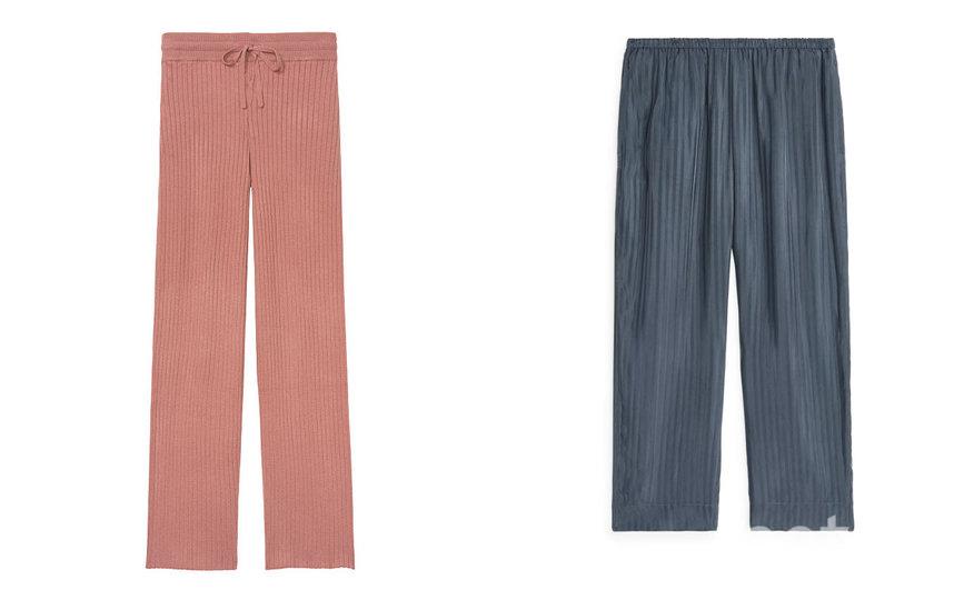 Брюки Victoria's Secret / Домашние брюки из купро ARKET. Фото скриншот сайта магазина