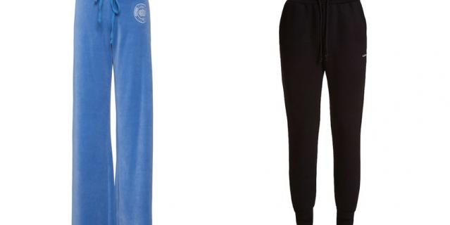 Велюровые брюки прямого кроя Juicy Couture / Брюки из скубы GUESS.