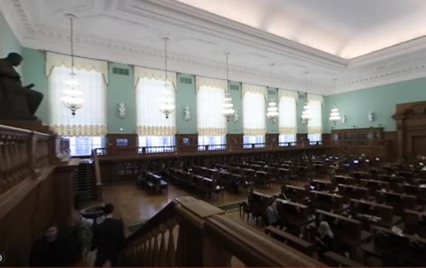 "Один из залов бибиотеки. Фото youtube-канал engineer-history.ru, ""Metro"""