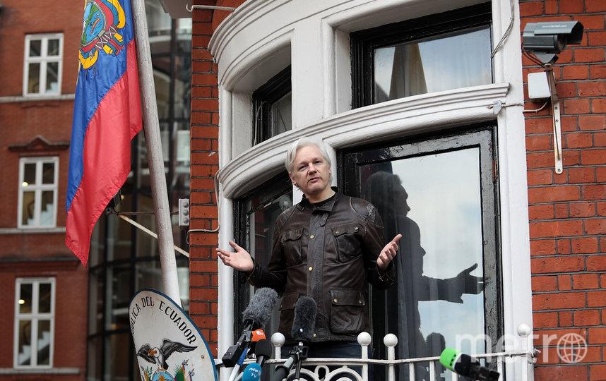 Джулиан Ассанж в посольстве Эквадора в Лондоне. Архивное фото. Фото Getty