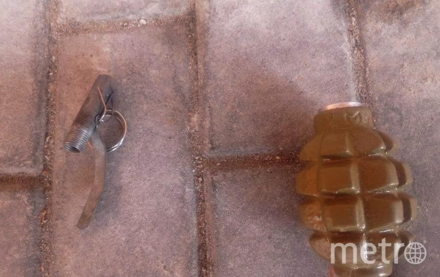Подозрительный предмет обследовали взрывотехники. Фото пресс-службы ГУ Росгвардии по СПб и ЛО