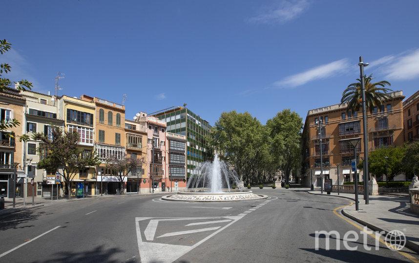Безлюдные улицы в Испании. Фото AFP