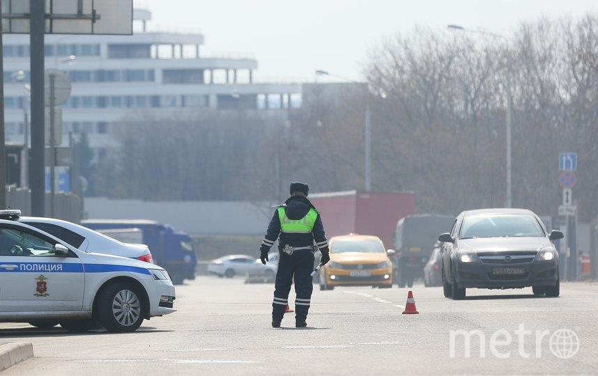 На въездах в Москву выставлены полицейские посты. Фото Василий Кузьмичёнок