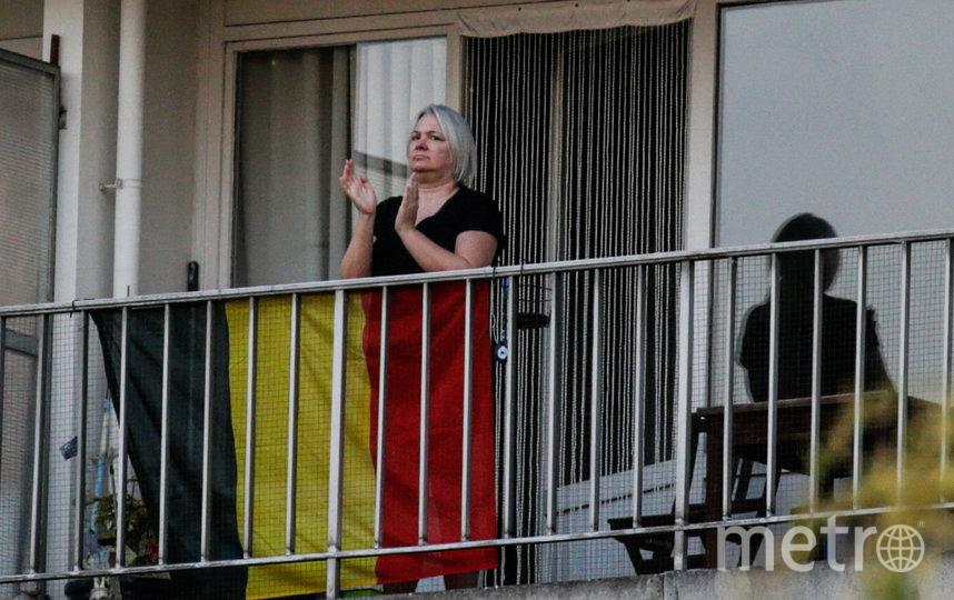 Жители Бельгии также поддерживают медиков аплодисментами. Фото AFP