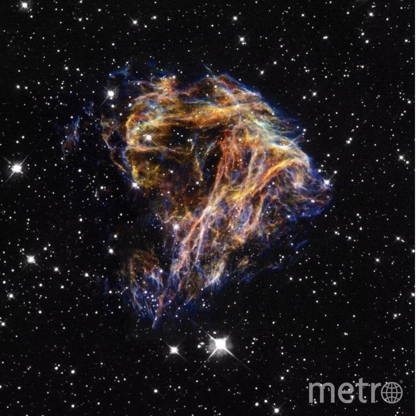 """В день рождения пользователя @drianabasboni """"Хаббл"""" видел N49 – ярчайший остаток сверхновой в Большом Магеллановом Облаке. Фото nasa.gov"""