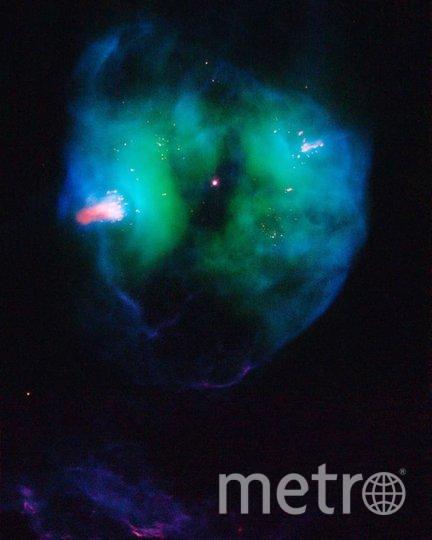 15 ноября 2007 года в поле зрения телескопа попала NGC 2371 – планетарная туманностьв созвездииБлизнецов. Фото nasa.gov