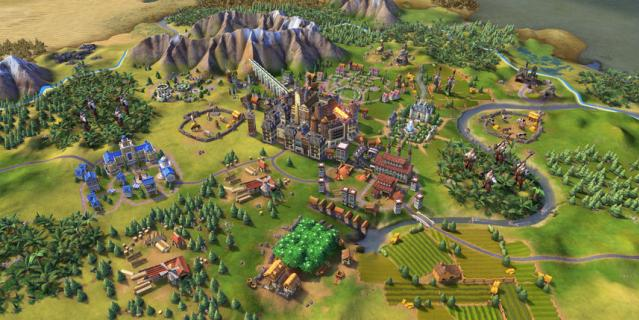 Игра Sid Meier's Civilization VI.