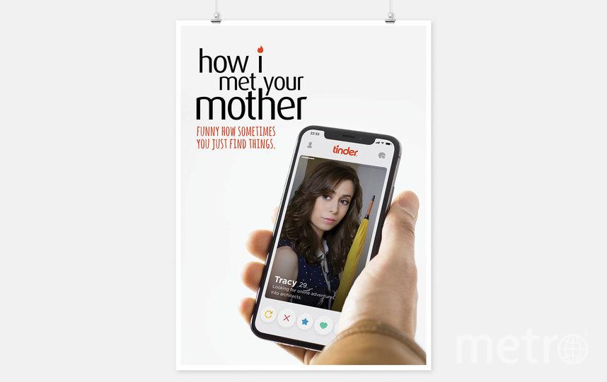"""Новый постер сериала """"Как я встретил вашу маму"""" намекает о знакомстве с помощью приложения Тиндер. Фото Jure Tovrljan"""