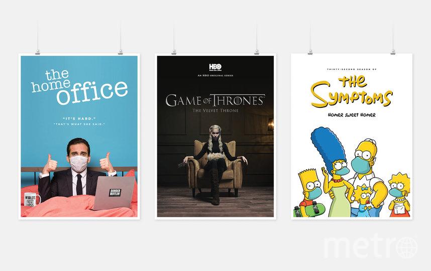 """В проекте также представлены альтернативные постеры """"Игры престолов"""" и """"Симпсонов"""". Фото Jure Tovrljan"""
