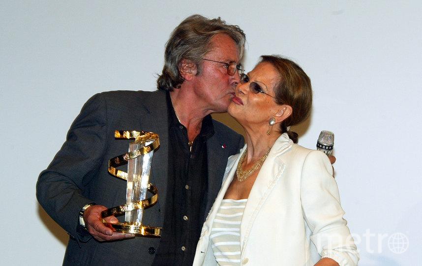 С Аленом Делоном в 2003 году на кинофестивале в Марокко. Фото Getty