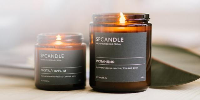 """Соевая свеча SP Candle """"Исландия"""" (800 руб.)."""