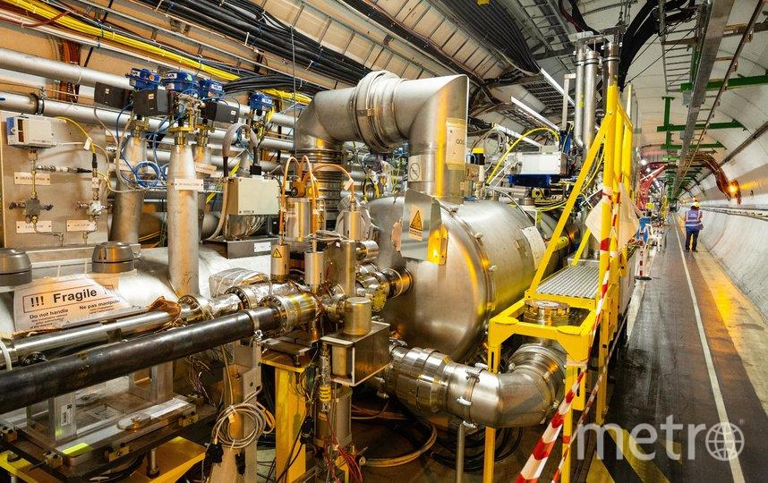 Часть Большого андронного коллайдера. Фото Getty