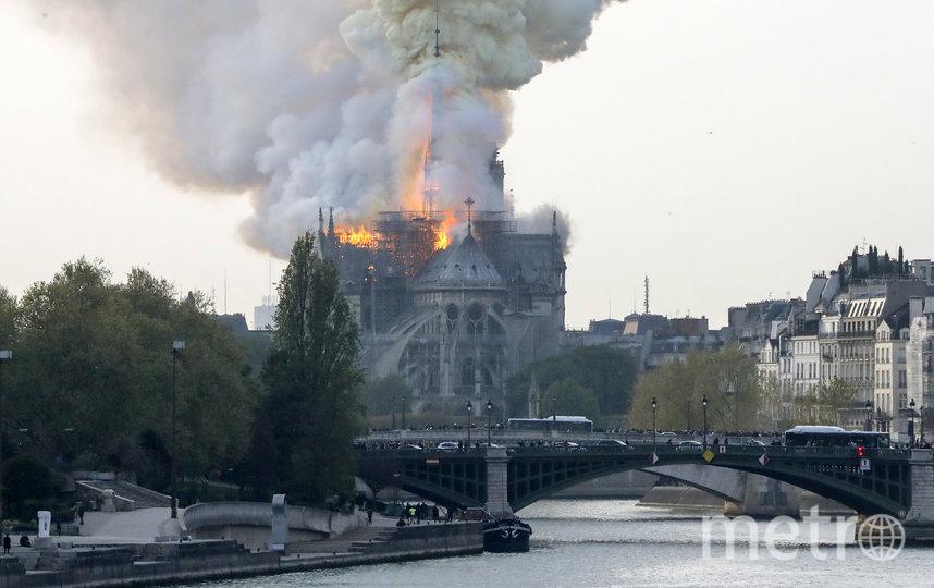 Пожар произошёл вечером 15 апреля 2019 года. Фото AFP