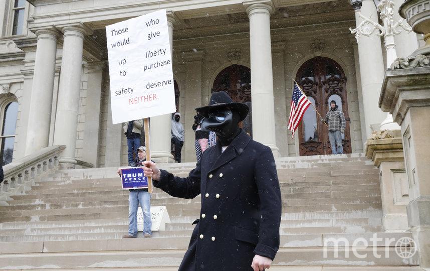 Акция протеста в Мичигане. Фото AFP
