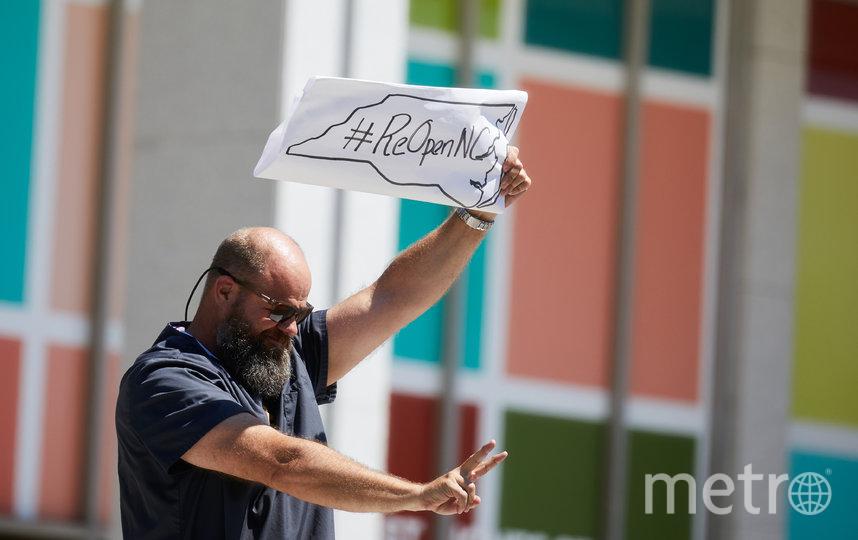 Акция протеста в Северной Каролине. Фото AFP