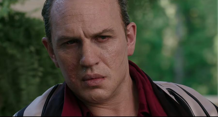 Загримированный Том Харди в роли Аль Капоне. Фото кадр из фильма