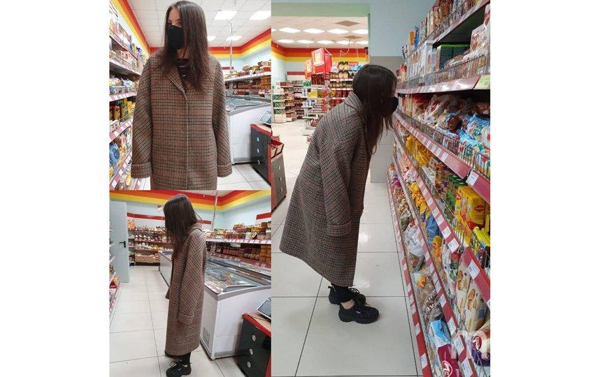"""Поход в магазин стал трендом соцсетей. Фото скриншот из """"Инстаграма"""": @nastkids__"""