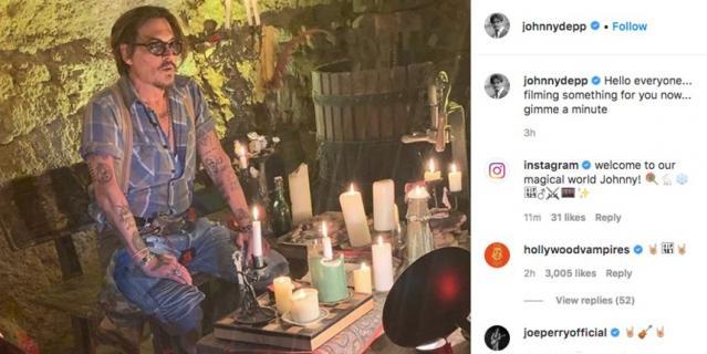 Джонни Депп завёл личную страничку в Instagram и опубликовал первое фото.