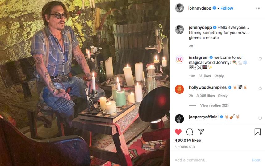 Джонни Депп завёл личную страничку в Instagram и опубликовал первое фото. Фото скриншот instagram @johnnydepp