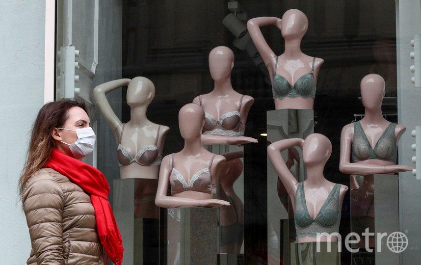 """Ношение маски на открытом воздухе, по мнению специалистов, является нецелесообразным. Фото агентство """"Москва"""", Кирилл Зыков"""
