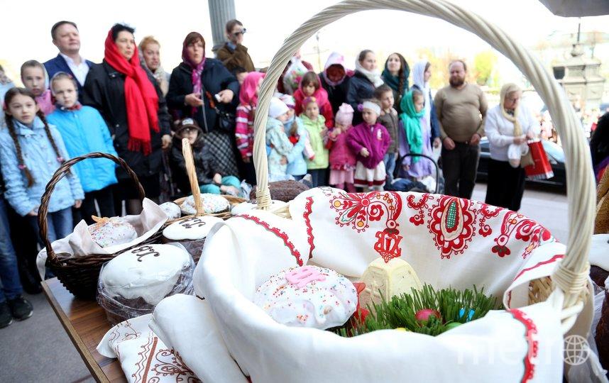 """В Великую субботу у православных христиан принято освящать куличи. Фото АГН """"Москва"""""""