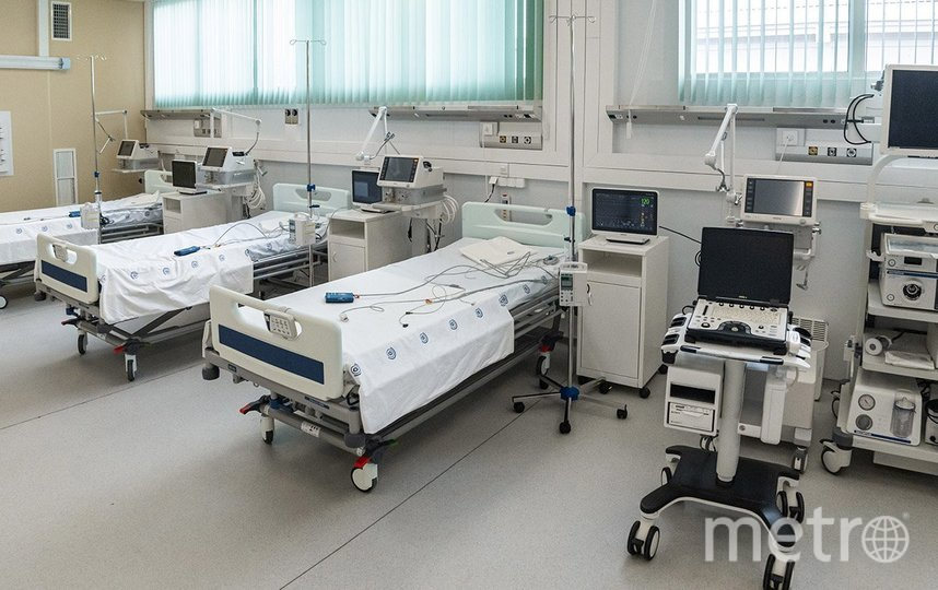 Койки в новой больнице и современное оборудование. Фото пресс-служба мэра и правительства Москвы: Максим Мишин
