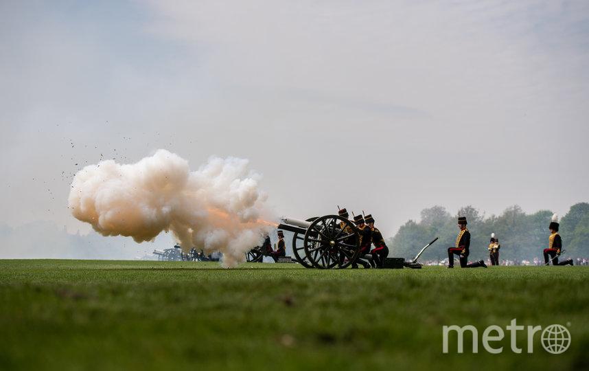 Пушечный салют по случаю дня рождения королевы Елизаветы II, 2019 год. Фото Getty