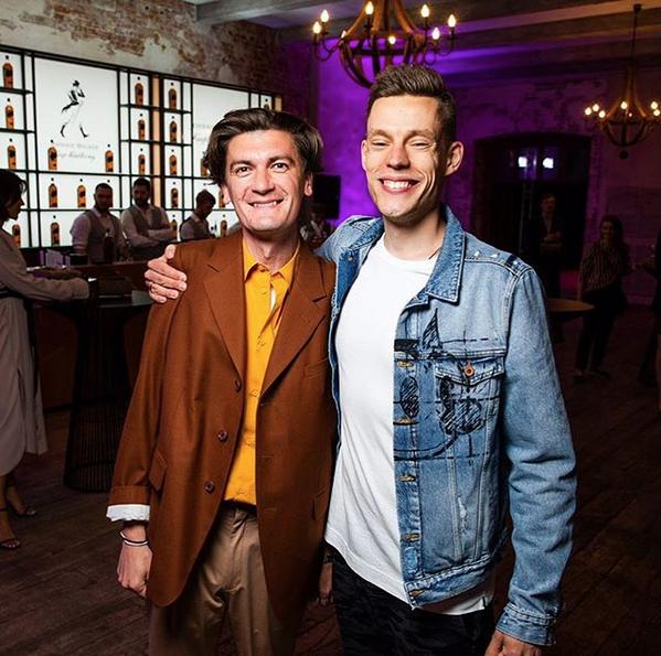 Юрий Дудь и Александр Гудков. Фото скриншот: instagram.com/yurydud/