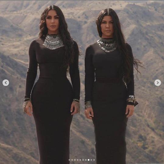 Ким Кардашьян посвятила это фото своей сестре Кортни. Фото Скриншот Instagram/kimkardashian