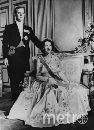 Портрет Елизаветы II и её супруга принца Филиппа. 1952 год. Фото Getty