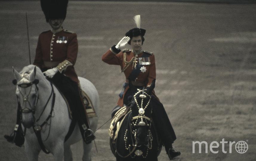 "Королева Елизавета II во время парада парад ""Trooping the Colour"". 1971 год. Фото Getty"