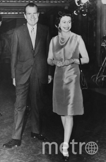 Президент США Ричард Никсон и королева Великобритании Елизавета II. 1969 год. Фото Getty
