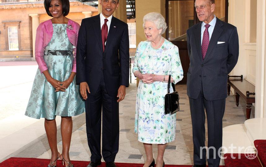 Президент США Барак Обама и королева Великобритании Елизавета II. 2011 год. Фото Getty