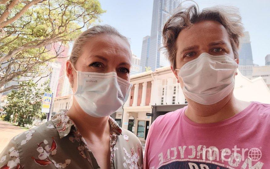 """За фото без маски на улице в Сингапуре можно получить штраф. Фото предоставлено героями материала, """"Metro"""""""