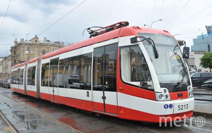"""В Петербурге два трамвая изменили маршруты из-за аварии. Фото """"Metro"""""""