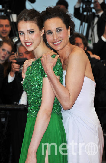 Энди Макдауэлл с дочерью Маргарет. Фото Getty