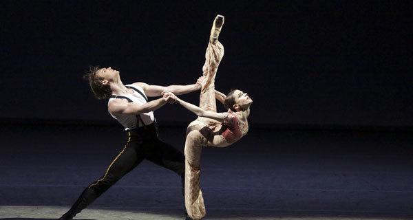 """Сцена из балета """"Герой нашего времени""""."""