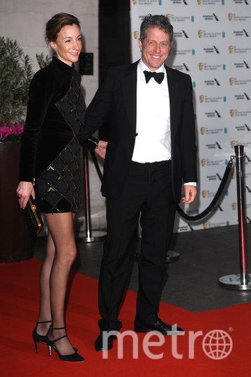 Хью Грант с женой Анной Эберштайн. Фото Getty