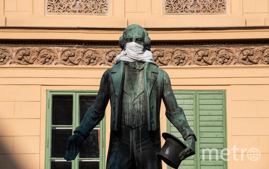 Статуя Иоганна Нестроя. Вена, Австрия. Фото Getty