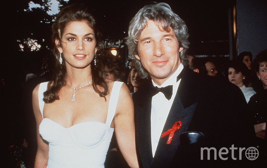 Ричард Гир и первая жена, модель Синди Кроуфорд. Фото Getty