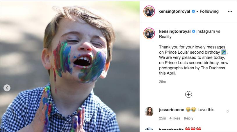 Малыш Луи растет очень активным ребенком. Фото https://www.instagram.com/p/B_UHBjUl963/