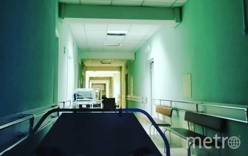 """Коридор больницы, где изначально разместили Елену. Фото предоставила Елена Петрова, """"Metro"""""""