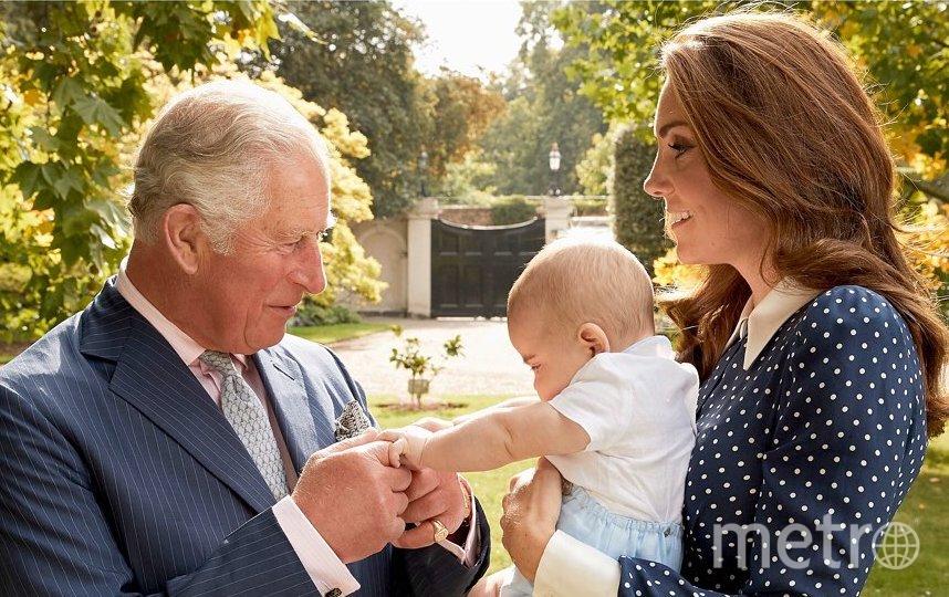 Принц Луи с мамой Кейт Миддлтон и дедушкой принцем Чарльзом. Фото Instagram @kensingtonroyal
