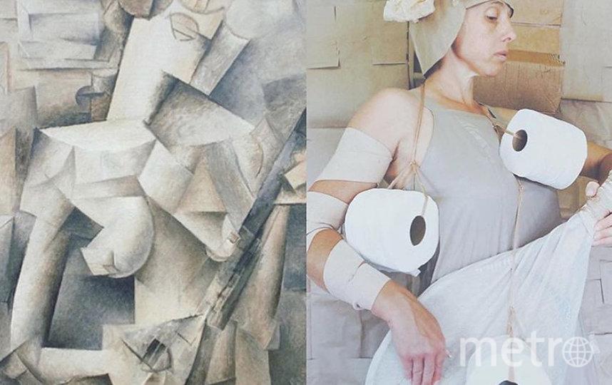"""""""Девушка с мандолиной"""". Фото instagram @tussenkunstenquarantaine."""