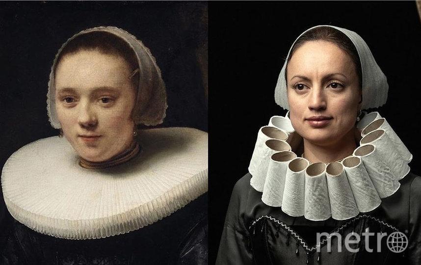 Пользователи Сети воссоздают знаменитые портреты с помощью туалетной бумаги. Фото instagram @tussenkunstenquarantaine.