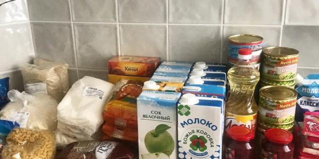 Продуктовые наборы дошколят в Петербурге.
