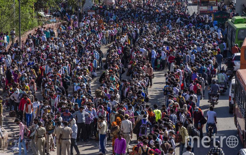 Социальное дистанцирование в Индии иногда физически невозможно. Фото Getty
