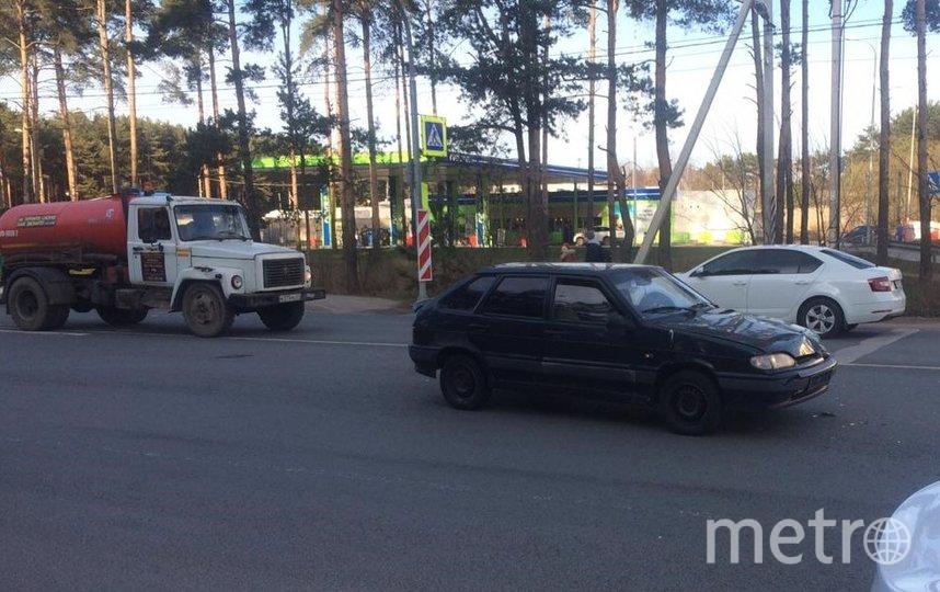 """Фото автомобиля, сбившего женщину с детьми. Фото предоставлено пресс-службой вневедомственной охраны по г. СПб и ЛО., """"Metro"""""""